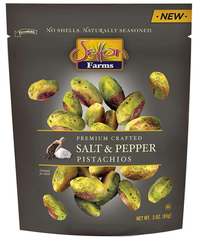 SETTON FRAMS Salt & Pepper Pistachios 3 Oz