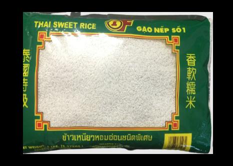 1ST OF Thai Sweet Rice / Gao Nep So 5 LBS