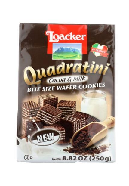 medium loacker quadratini cocoa milk wafer cookies 882 oz 9kdZWMl6w