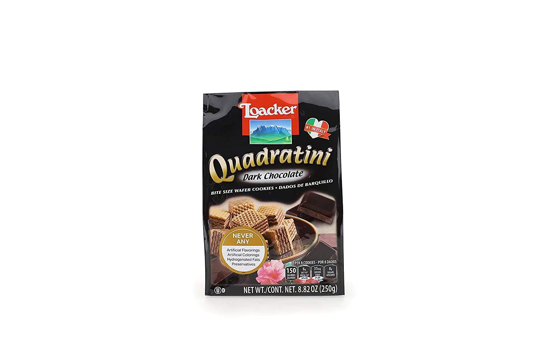 medium loacker quadratini dark chocolate wafer cookies 882 oz TBYWcDY55