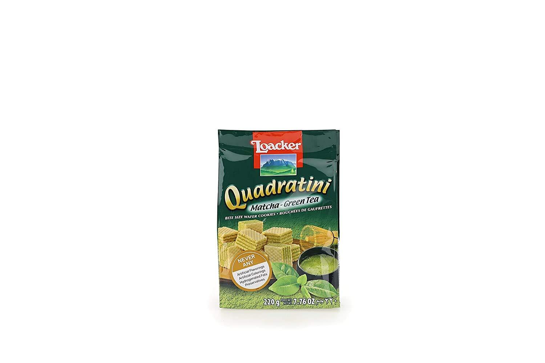 medium loacker quadratini matcha green tea wafer cookies 776 oz glIzU jD