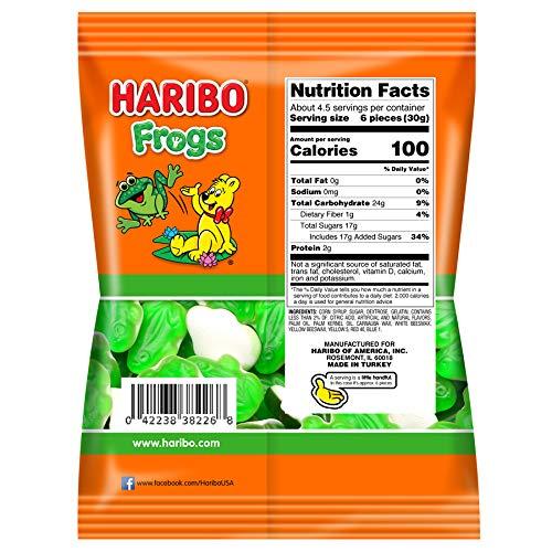 medium haribo frogs gummi candy 5 oz QCNHbzHIH4