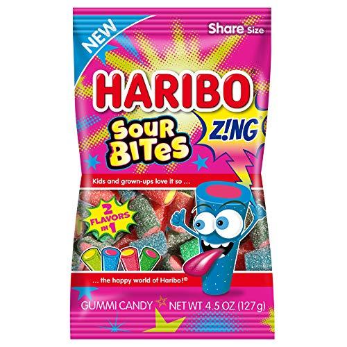 medium haribo gummy candy sour bites 45 oz  MCLriaAKW