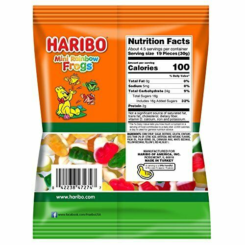 medium haribo mini rainbow frogs gummi candy 5
