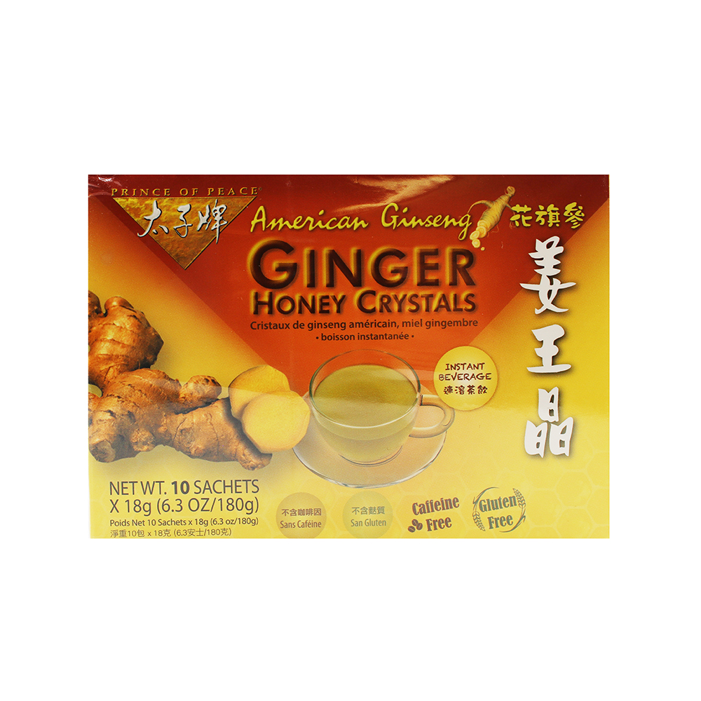 PRINCE OF PEACE American Ginseng Ginger Honey Crystals 6.3 OZ
