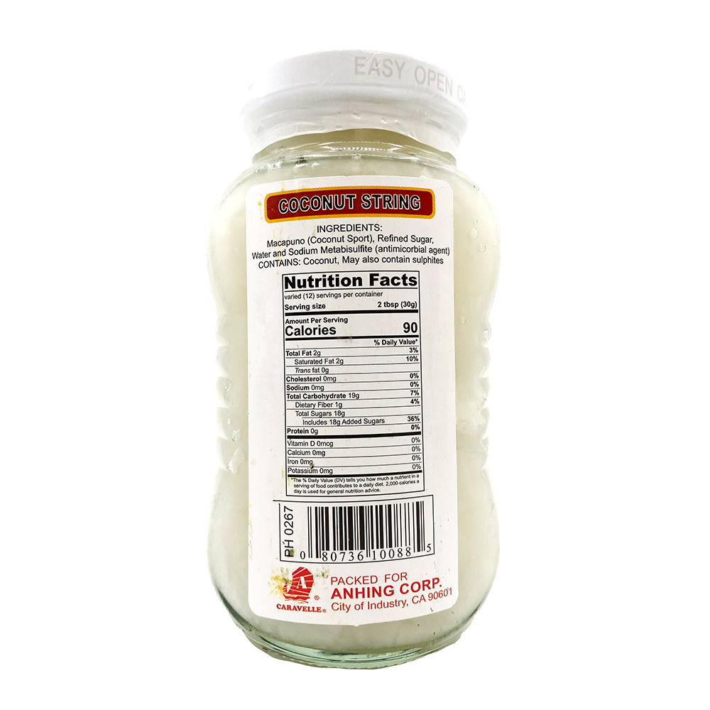 medium caravelle sarap coconut string 12 oz x1