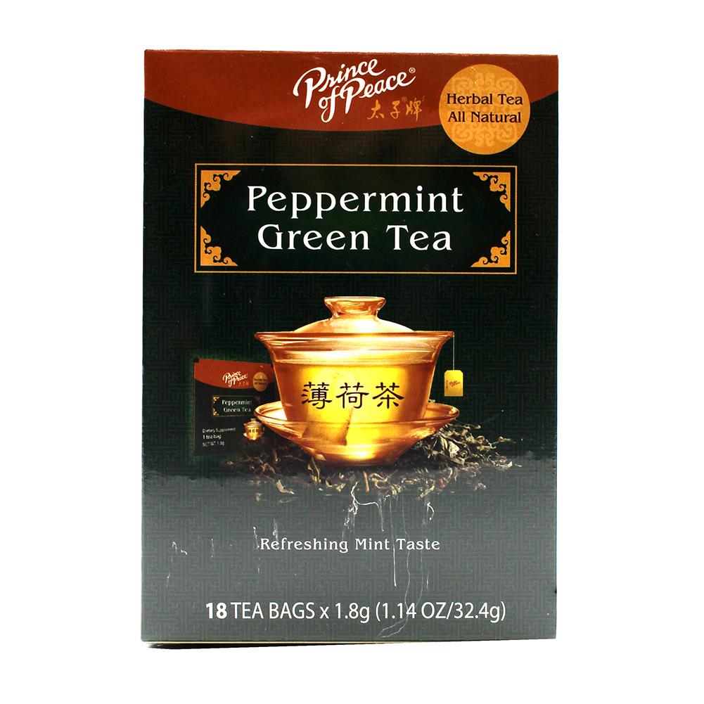 PRICE OF PEACE Herbal Tea Peppermint Green Tea 18 Pack