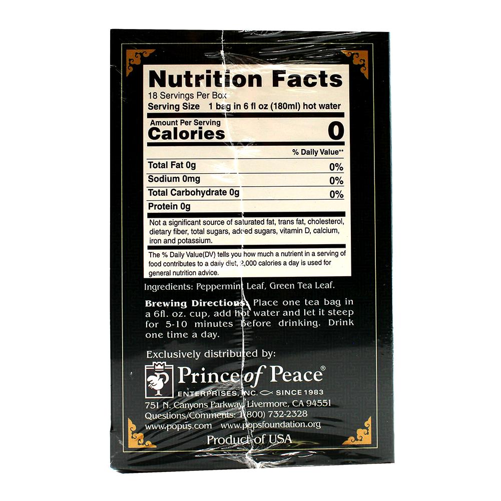 medium price of peace herbal tea peppermint green tea 18 pack zCmauIR5l