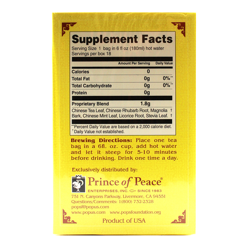 medium price of peace herbal tea smooth cleanse 18 pack piYBUYv2b