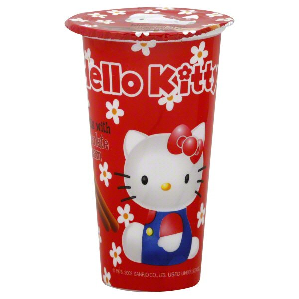 HELLO KITTY Biscuits With Chocolate Cream 1.16 Oz