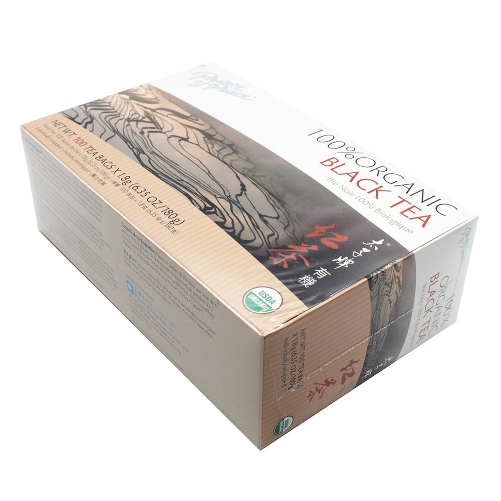 medium price of peace organic black tea box 100 tea