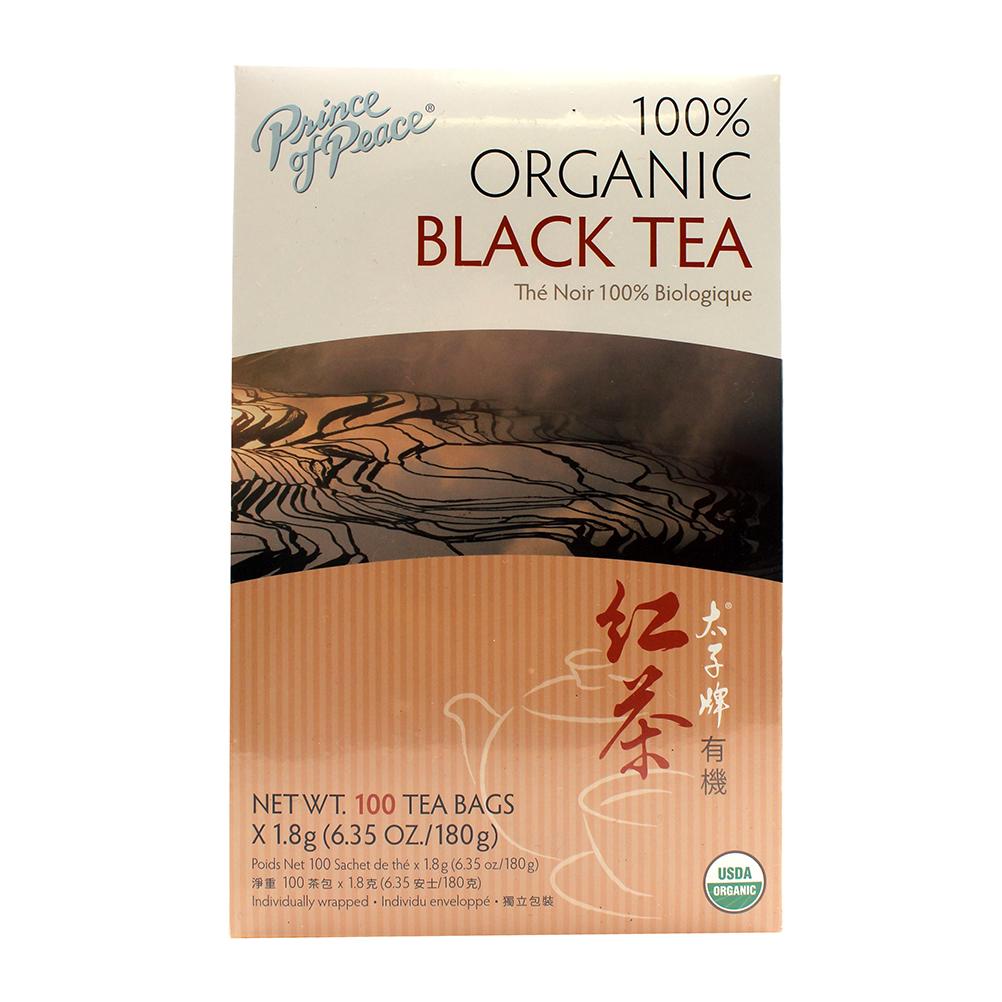 PRICE OF PEACE Organic Black Tea Box 100 Tea Bags