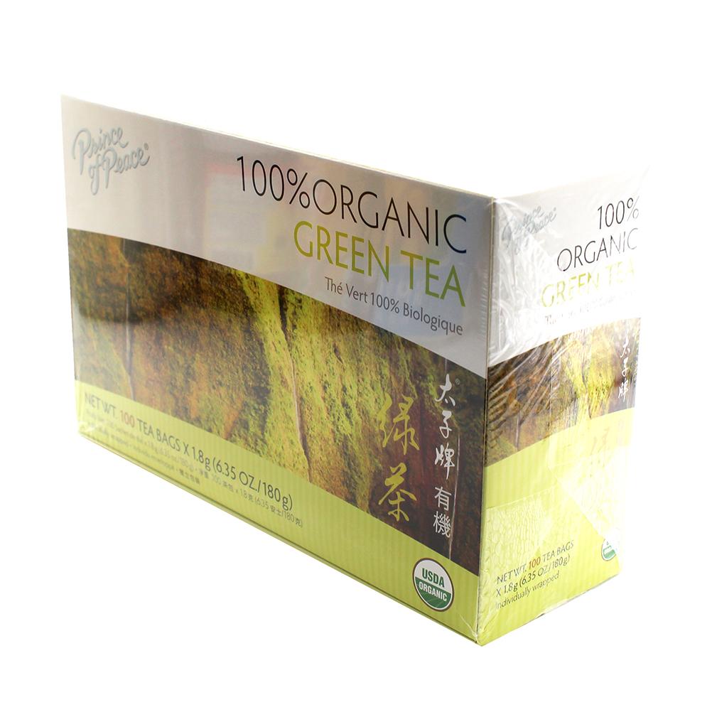 medium price of peace organic green tea box 100 tea bags 9F L00AcB