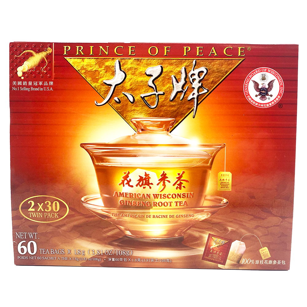 PRINCE OF PEACE American Wisconsin Ginseng Root Tea Twin Pack-12 OZ