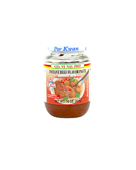 POR KWAN Instant Beef Flavor Paste / Gia Vi Nau Pho 16 OZ