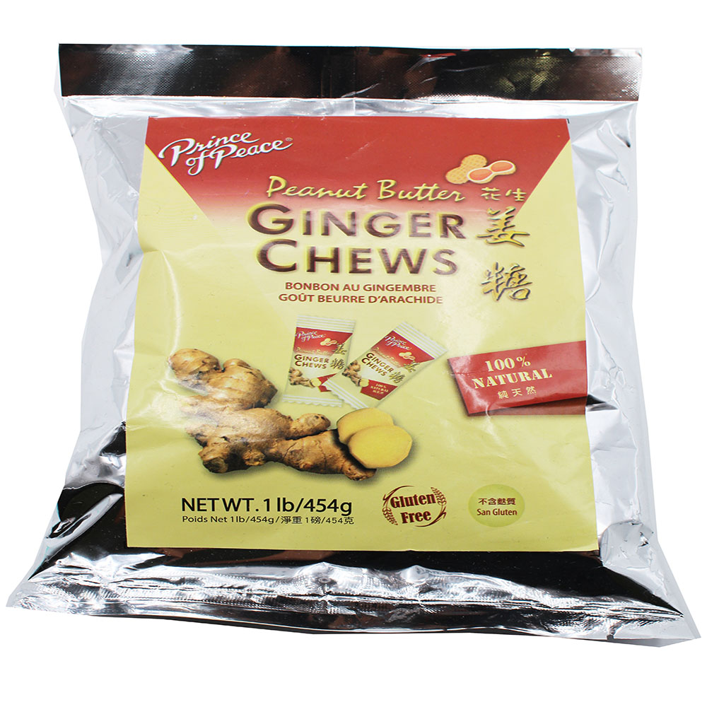 PRINCE OF PEACE Ginger Chews Peanut Butter Flavor 1 LB