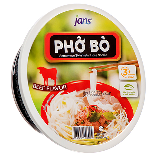 JANS  Instant Bowl Beef / Pho Bo 2.4 Oz