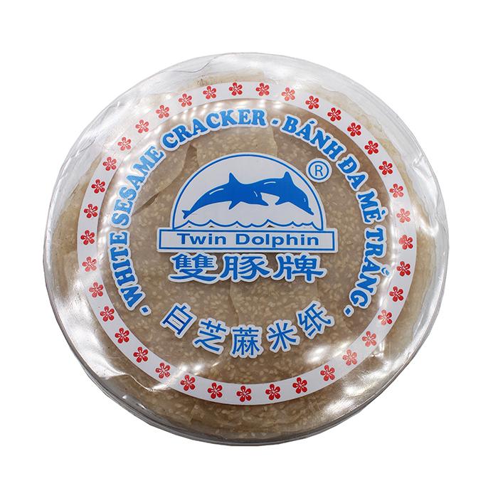 TWIN DOLPHIN White Sesame Cracker / Banh Da Me Trang 12 OZ