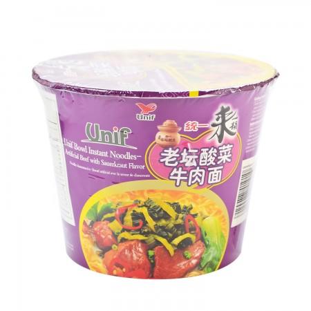medium unif instant noodles artificial beef with sauerkraut flavor 125 gr FJ12jp1hcb