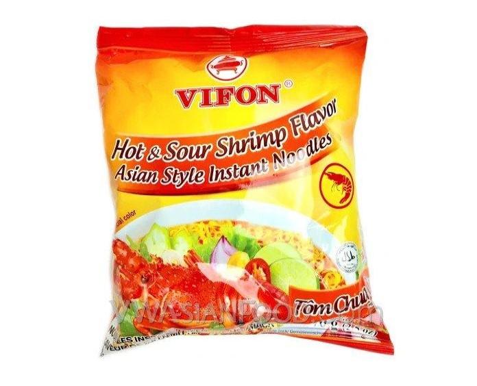 VIFON Hot & Sour Shrimp Flavor/ Tom Chua Cay 2.6 OZ