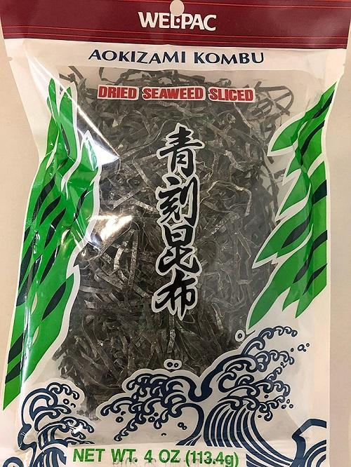 WEL-PAC Aokizami Kombu Dried Seaweed Sliced 4 OZ