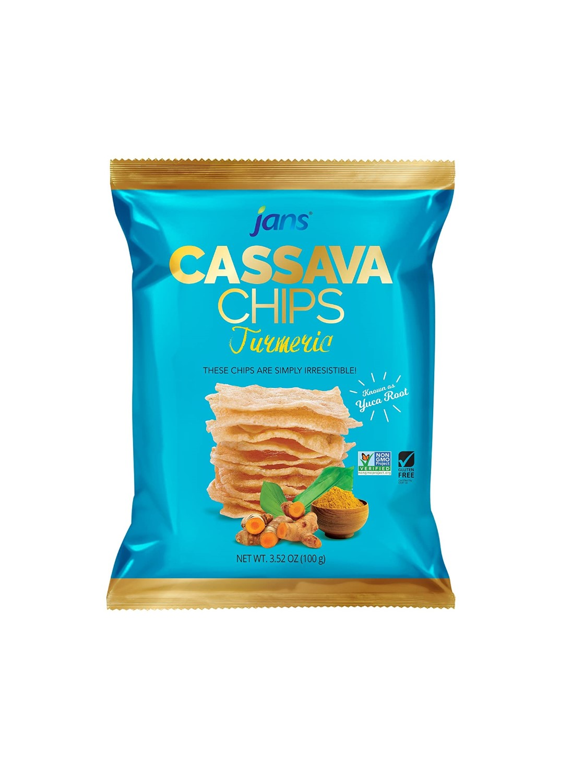JANS Cassava Chips Tumeric Chips 3.52 OZ