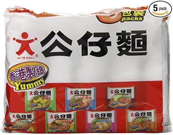 DOLL Bag Noodles spicy artificial pork 5-PK 3.53oz