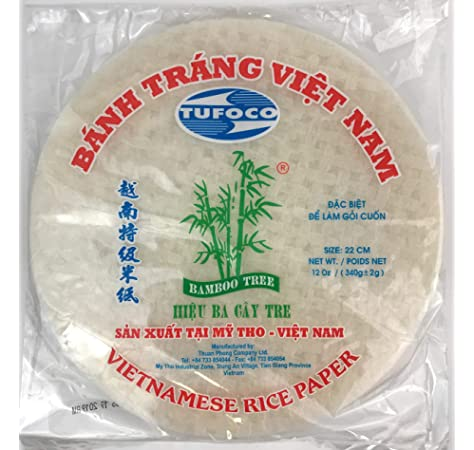 3 BAMBOO Rice Paper 22CM 12 OZ