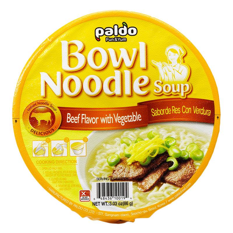 PALDO Bowl Noodle Beef With Vegetable 3.03 Oz