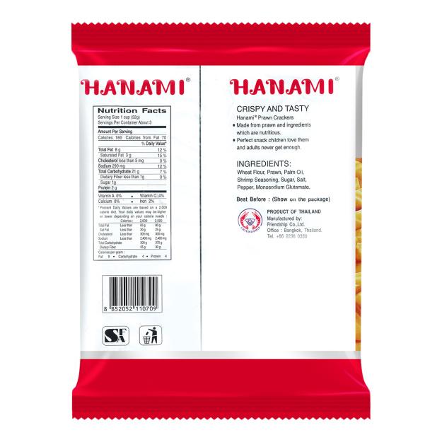 HANAMI Prawn Crackers 100 Gr