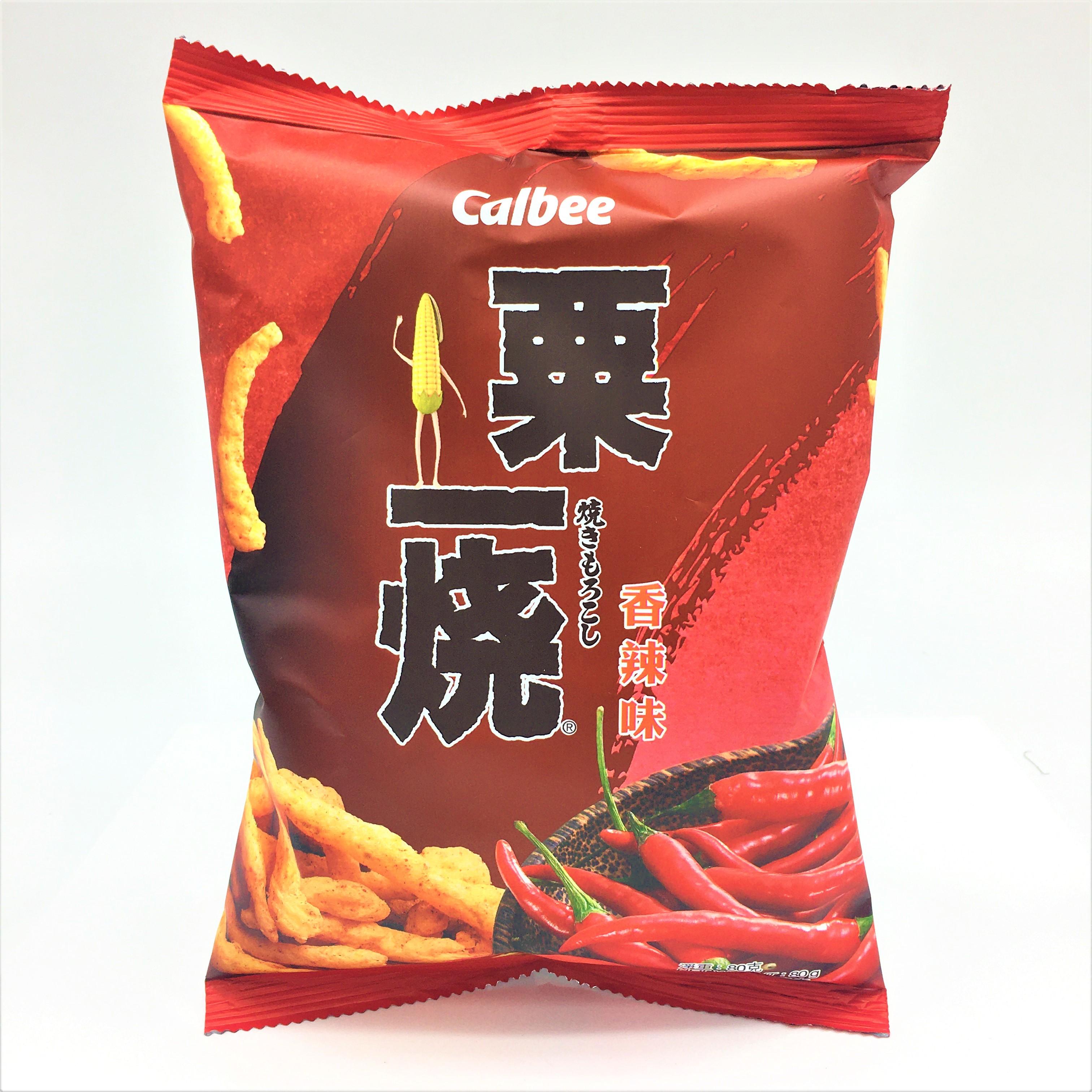 medium calbee corn cracker hot spicy 28 oz 7hkcQINig