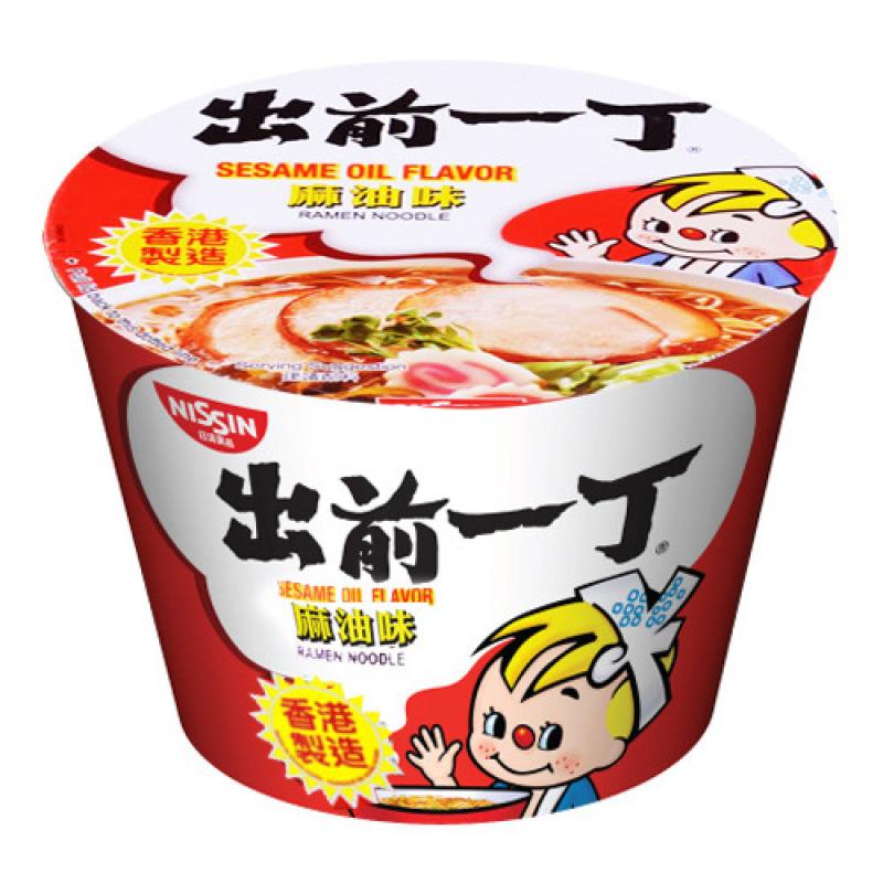 medium nissin ramen noodle sesame oil flavor 388 oz O2In9XuFc