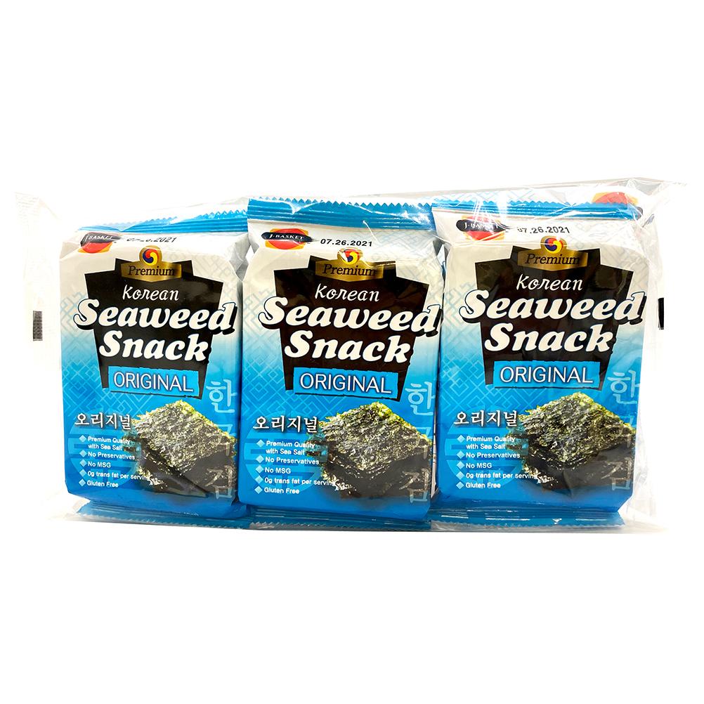 J-BASKET Korean Seaweed Snack Original 3 Pack