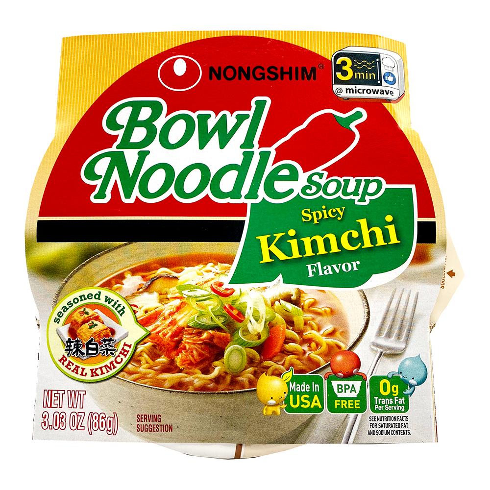 NONGSHIM Bowl Noodle Soup Spicy Kimchi Flavor 3.03 OZ