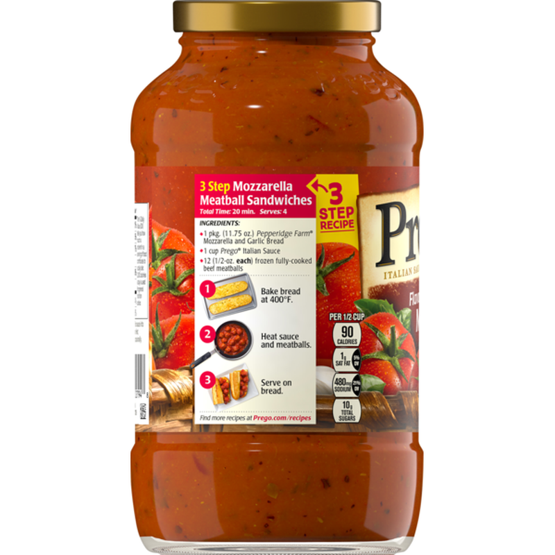 medium prego italian sauce flavored with meat 24 oz 8VuE2BcUcP