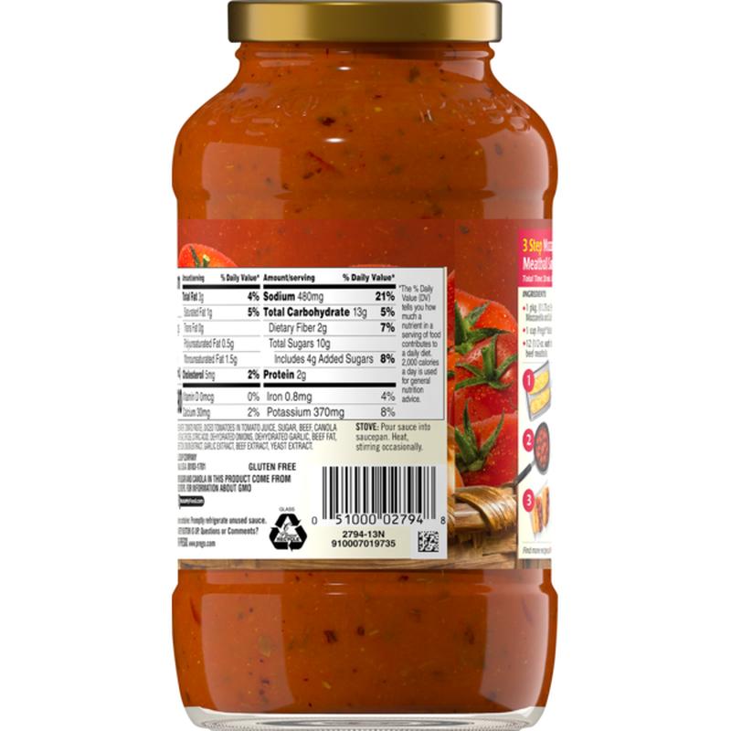 medium prego italian sauce flavored with meat 24 oz gonOhSGDJB