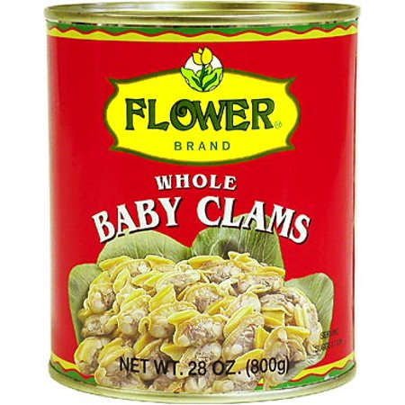 FLOWER Whole Baby Clams 28 OZ