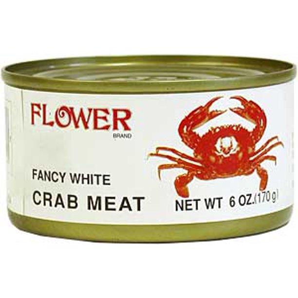 FLOWER Fancy White Crab Meat 6 OZ
