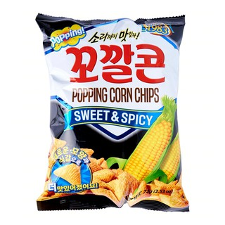 Lotte Popping Corn Chips Sweet & Spicy 2.53 Oz