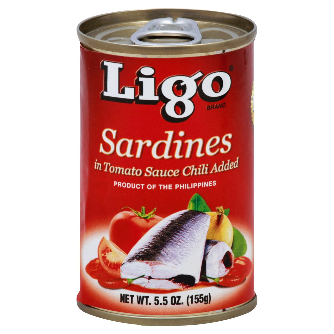 LIGO Sardines In Tomato Sauce Chili Added 5.5 OZ