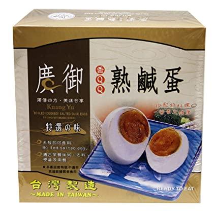 Kuang Yu Boilded Salted Duck Egg 6-Pk