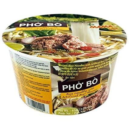 Mama Bowl Rice Noodles Pho Bo Flavor 2.29 Oz