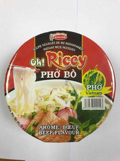 Acecook Oh Rice-Bowl Noodle Beef 70G
