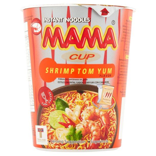 MAMA Instant Noodles Cup Tom Yum Flavor 2.47 OZ