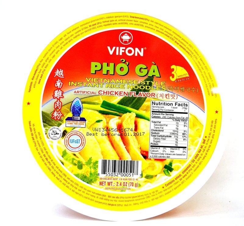 Vifon Rice Noodles-Chicken 2.4 Oz