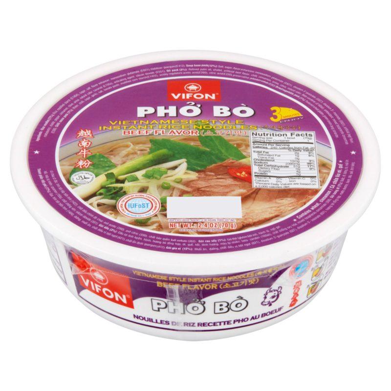 Vifon Instant Rice Noodles Beef  2.4 Oz