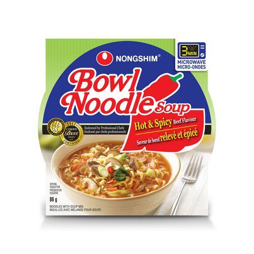 Nongshim Tasty Instant Noodles Hot & Spicy 3.03 OZ