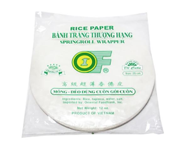 1St Of Rice Papper 25Cm  12Oz