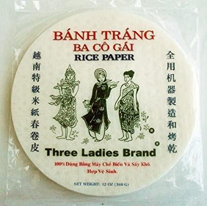 THREE LADIES Rice Paper 12 OZ