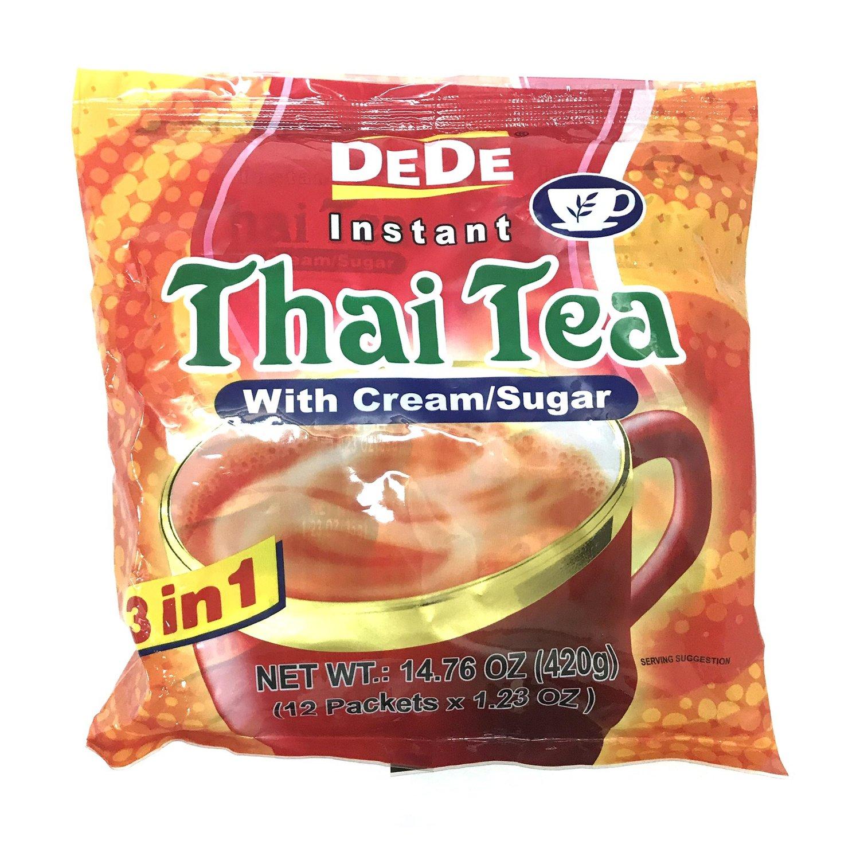 DEDE Thai Tea Instant with Cream/Sugar 14.76 OZ